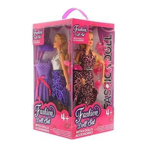 Bambole Fashion  con accessori Set 4 Pz