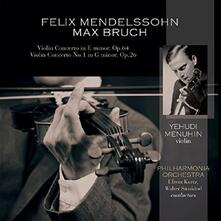 Concerti per violino - Vinile LP di Felix Mendelssohn-Bartholdy,Max Bruch,Yehudi Menuhin,London Philharmonic Orchestra,Efrem Kurtz