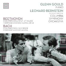 Plays Beethoven and Bach - Vinile LP di Johann Sebastian Bach,Ludwig van Beethoven,Leonard Bernstein,Glenn Gould,Columbia Symphony Orchestra
