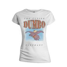 T-Shirt Donna Tg. M. Disney: Dumbo - The Flying Elephant White