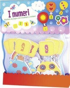 I numeri 21 pezzi stickers da bagno