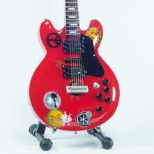 Wooden Miniature Guitar Replica. Alvin Lee Ten Years Later Chitarra Gibson Sg 335