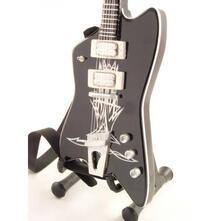 Chitarra In Miniatura Zz Top. Billy Gibbons. Black Reverse Jupiter
