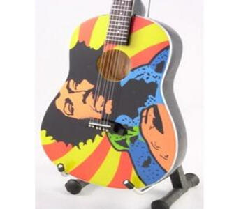 Chitarra in miniatura Jimi Hendrix. Acoustic Tribute