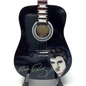 Chitarra in miniatura Elvis Presley. Acoustic Signed