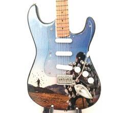 Mini chitarra da collezione replica in legno  Pink Floyd  Delicate sound of thunder  Tribute