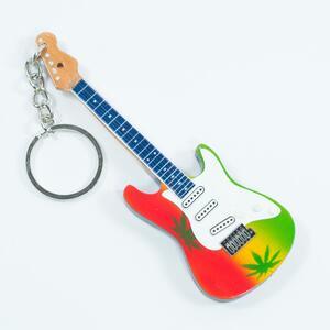 Portachiavi in legno. Bob Marley. Marijuana T