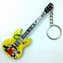 Portachiavi in Legno Forma Chitarra Mod. Exclusive - Guns N' Roses - Slash