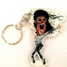 Portachiavi in acrilico caricature Music Legends - Michael Jackson