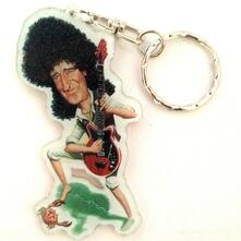 Portachiavi in acrilico caricature Music Legends - Brian May - Queen