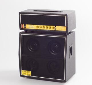 Mini amplificatore doppio da collezione replica mod. Black