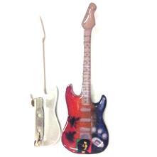 Spilla a forma di chitarra in metallo  Bob Marley  Tribute