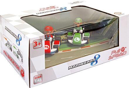 Carrera Pull & Speed. Mario Kart 8. Mario e Luigi Set 2 pezzi
