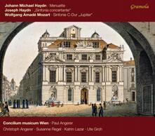 Sinfonia n.41 / Sinfonia concertante / Minuetto - CD Audio di Franz Joseph Haydn,Wolfgang Amadeus Mozart,Johann Michael Haydn