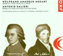 Messa in Do / Messa in Re - CD Audio di Wolfgang Amadeus Mozart,Antonio Salieri