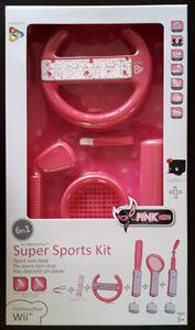 Kit 6 in 1 Super Sports Rosa per Nintendo WII