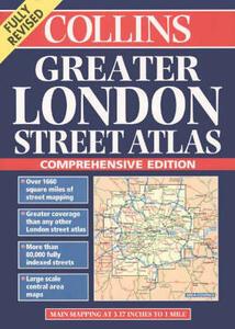 Collins Greater London Street Atlas - Automobile Association - cover