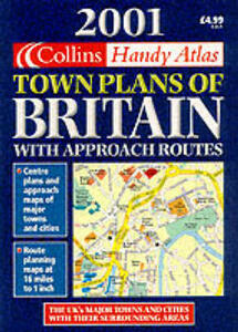 Handy Town Plan Atlas Britain: With Approach Routes - cover