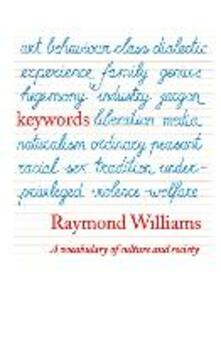 Keywords: A Vocabulary of Culture and Society - Raymond Williams - cover