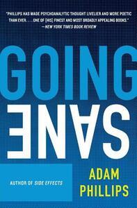 Going Sane - Adam Phillips - cover