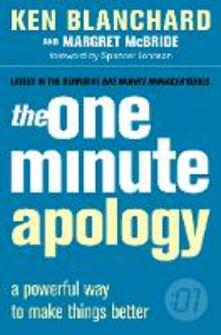 The One Minute Apology - Kenneth Blanchard,Margret McBride - cover