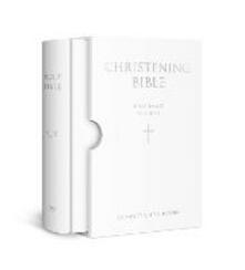 HOLY BIBLE: King James Version (KJV) White Compact Christening Edition - cover
