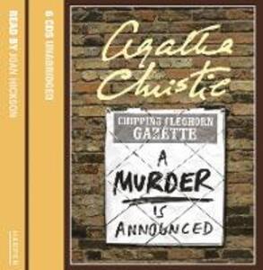 A A Murder is Announced - Agatha Christie - cover