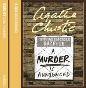 Libro in inglese Murder is Announced CD  - Agatha Christie