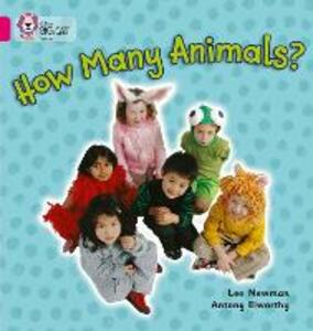How Many Animals?: Band 01a/Pink a - Lee Newman - cover