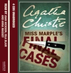 Miss Marple's Final Cases - Agatha Christie - cover