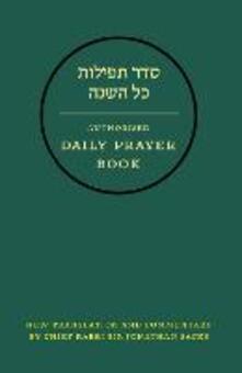 Hebrew Daily Prayer Book - Jonathan Sacks,The United Synagogue - cover