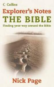 Explorer's Notes: The Bible - Nick Page - cover