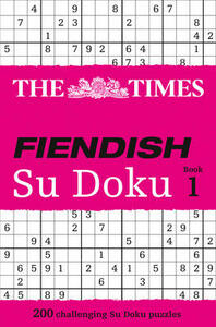 The Times Fiendish Su Doku Book 1: 200 Challenging Puzzles from the Times - cover