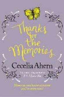 Thanks for the Memories - Cecelia Ahern - cover