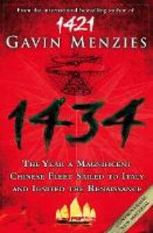 1434: The Year a Chinese Fleet Sailed to Italy and Ignited the Renaissance - Gavin Menzies - cover
