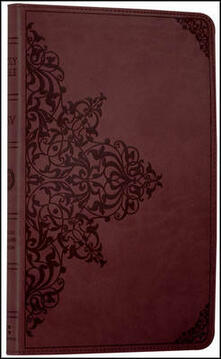 Holy Bible: English Standard Version (ESV) Anglicised Chestnut Ornamental Thinline edition - Collins Anglicised ESV Bibles - cover