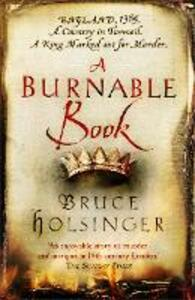 A Burnable Book - Bruce Holsinger - cover