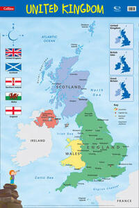 United Kingdom: Wall Map - Collins Maps - cover