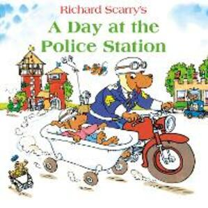 A Day at the Police Station - Richard Scarry - cover