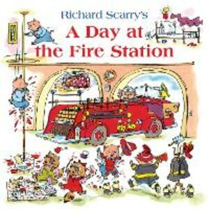 A Day at the Fire Station - Richard Scarry - cover