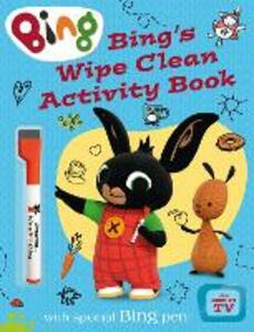 Bing's Wipe Clean Activity Book - cover