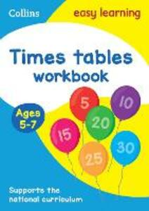 Times Tables Workbook Ages 5-7: New Edition - Collins Easy Learning - cover