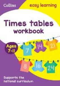 Times Tables Workbook Ages 7-11: New Edition - Collins Easy Learning,Simon Greaves - cover