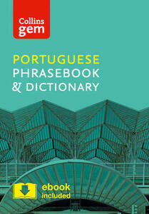Collins Portuguese Phrasebook and Dictionary Gem Edition: Essential Phrases and Words in a Mini, Travel-Sized Format - Collins Dictionaries - cover