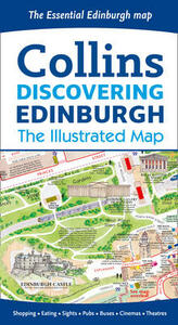Discovering Edinburgh Illustrated Map - Collins Maps - cover