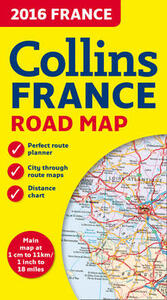 2016 Collins Map of France - Collins Maps - cover