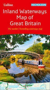 Collins Nicholson Inland Waterways Map of Great Britain: The Number 1 Bestselling Waterways Map - Collins Maps - cover