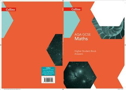 GCSE Maths AQA Higher Student Book Answer Booklet - cover