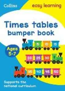 Times Tables Bumper Book Ages 5-7 - Collins Easy Learning - cover