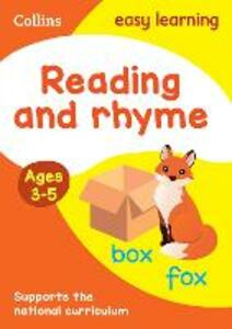 Reading and Rhyme Ages 3-5: New Edition - Collins Easy Learning - cover